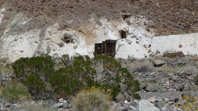 Old talc mine at Warm Springs, Death Valley