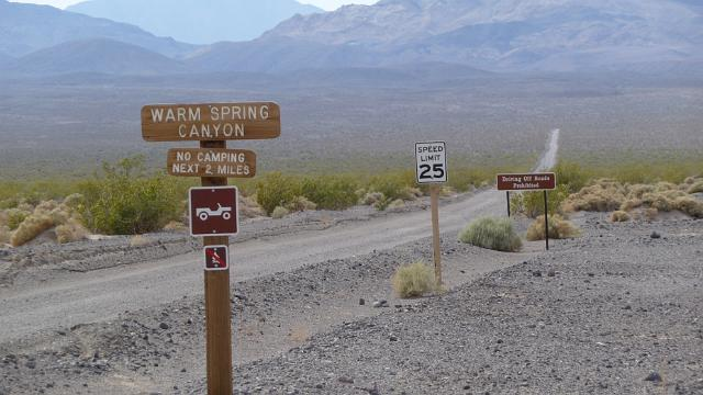 Warm Springs Canyon Road, Death Valley